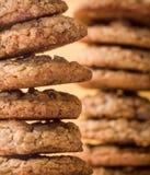 Cookies dos pedaços de chocolate Fotografia de Stock