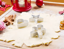 Cookies dough homemade for Christmas Royalty Free Stock Photography