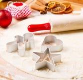Cookies dough homemade for Christmas. Some cookies dough homemade for Christmas stock photos