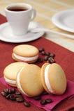 Cookies e café Imagens de Stock