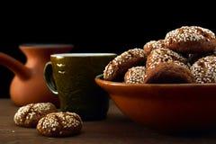 Cookies e café Fotos de Stock