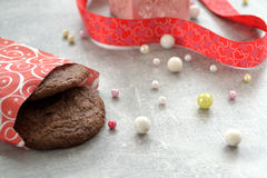 Cookies e fita Foto de Stock
