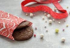 Cookies e fita Imagem de Stock