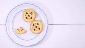 Cookies e lapso de tempo do café vídeos de arquivo