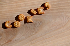 Cookies Eetbare brieven Stock Afbeelding