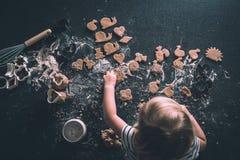 Cookies em um worktop Imagem de Stock
