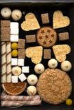 Cookies em uma caixa foto de stock royalty free