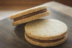 Cookies enchidas Imagens de Stock