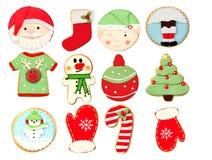 Cookies engraçadas para o Natal Imagens de Stock Royalty Free