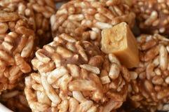Cookies expandidas do arroz Imagem de Stock