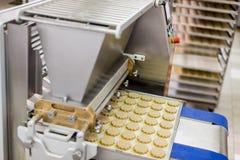 Cookies factory. Cookies in a cookies factory Royalty Free Stock Image