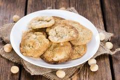 Cookies feitas frescas da macadâmia Foto de Stock Royalty Free