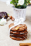 Cookies with festive ribbon Royalty Free Stock Image