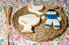 Cookies for a First Communion Stock Images