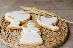 Cookies for a First Communion Stock Photo