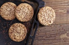 Cookies with flax seeds Stock Photo