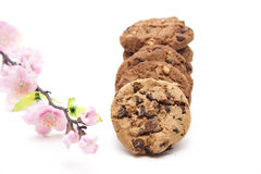 Cookies with flower Royalty Free Stock Images