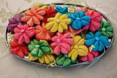 Cookies flower Royalty Free Stock Images