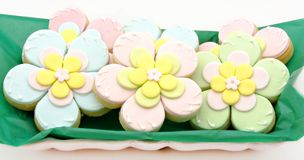 Cookies flowers Royalty Free Stock Images
