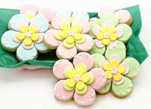Cookies flowers Stock Images