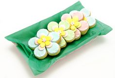 Cookies flowers Stock Photo