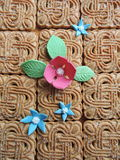 Cookies with flowers Royalty Free Stock Images