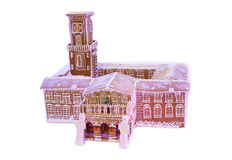 Cookies in the form of castle. Decorative castle made ​​of cookies Stock Images