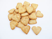 Cookies in the form of hearts Stock Photos