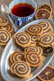 Cookies in the form of a spiral. Royalty Free Stock Images