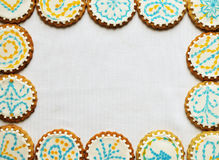 Cookies frame Stock Photo