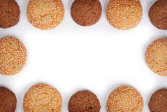 Cookies frame Royalty Free Stock Photo