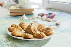Cookies francesas tradicionais Imagem de Stock Royalty Free