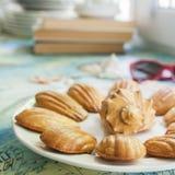 Cookies francesas tradicionais Fotografia de Stock Royalty Free