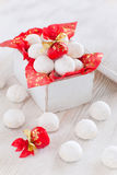 Cookies in a gift box. Vanilla sugar cookies in a gift box, selective focus Stock Photos