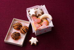 Cookies in gift box Royalty Free Stock Photography