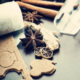 Cookies and ginger dough Royalty Free Stock Image