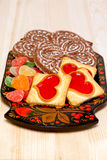 Cookies and Gingerbreads - sweet hearts Royalty Free Stock Images