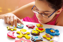 Cookies and girl Royalty Free Stock Image