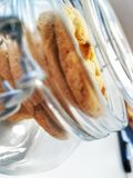 Cookies in a glass royalty free stock photography