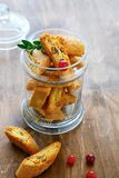 Cookies in a glass jar Stock Image
