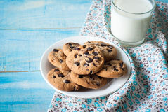 Cookies and a glass of milk Royalty Free Stock Image