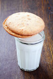 Cookies and a glass of milk Royalty Free Stock Photo