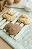 Cookies and glass of milk Stock Photography