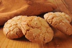 Cookies gourmet do gengibre da amêndoa Imagem de Stock Royalty Free