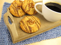 Cookies and grain coffee Stock Image