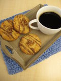 Cookies and grain coffee Royalty Free Stock Images