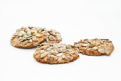 Cookies with grains Royalty Free Stock Images