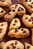 Cookies with grapes Stock Photography