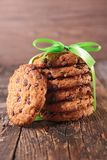Cookies and green bow Royalty Free Stock Photo