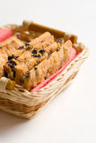 Cookies in the hand made dish Royalty Free Stock Images